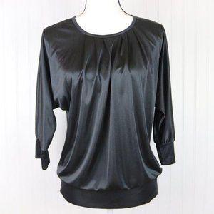 Xhilaration Silky Pleated Blouse Size M